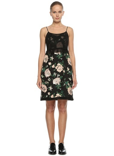 Askılı Çiçek Desenli Elbise-Club Monaco